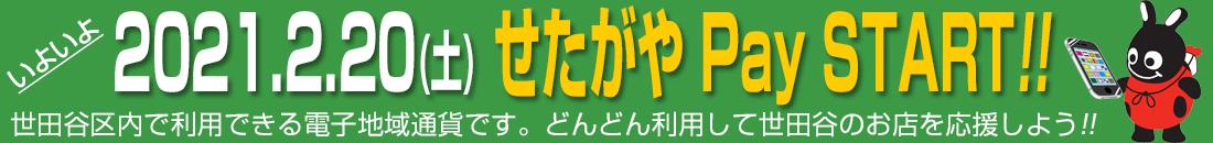2021年2月20日 SETAGAYA PAY START!!